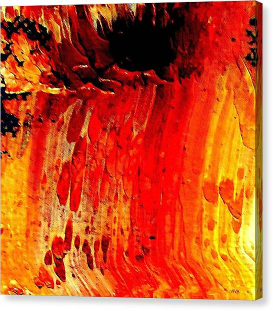 Canvas Print featuring the painting Delicious Paint Abstract by VIVA Anderson