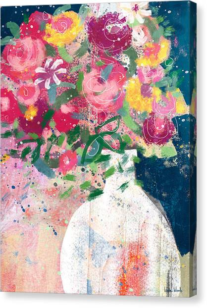 Bouquet Canvas Print - Delightful Bouquet- Art By Linda Woods by Linda Woods