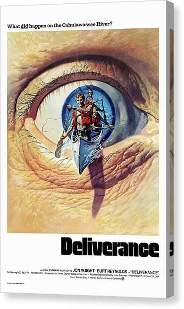 1972 Canvas Print - Deliverance  1972 by Kultur Arts Studios