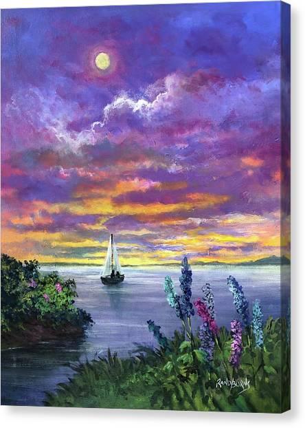 Delphinium Dreams Canvas Print