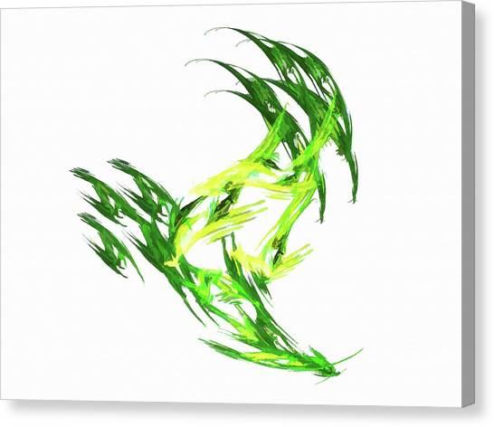 Deluxe Throwing Star Green Canvas Print