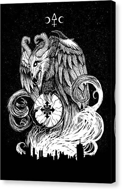 Apocalypse Canvas Print - Demon Of Chaos by Cambion Art