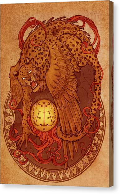 Demons Of Goetia Haures / Flauros Canvas Print by Cambion Art