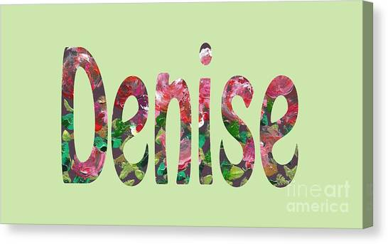 Canvas Print featuring the digital art Denise by Corinne Carroll