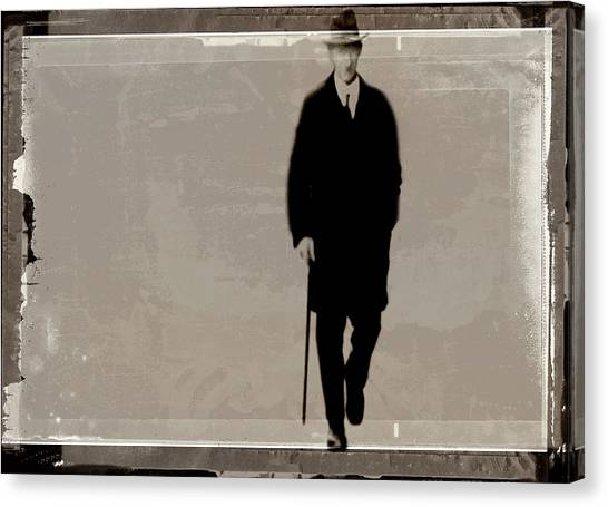Denmark, Aarhus, Old Man With Hat Canvas Print