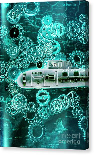 Submarine Canvas Print - Depth Charged by Jorgo Photography - Wall Art Gallery