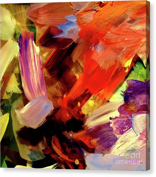 Post-modern Art Canvas Print - Depth Of Color by John Clark