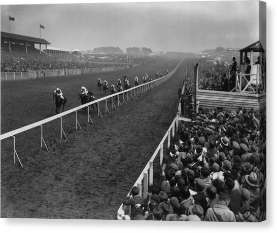 Derby Day Winner Canvas Print by Central Press