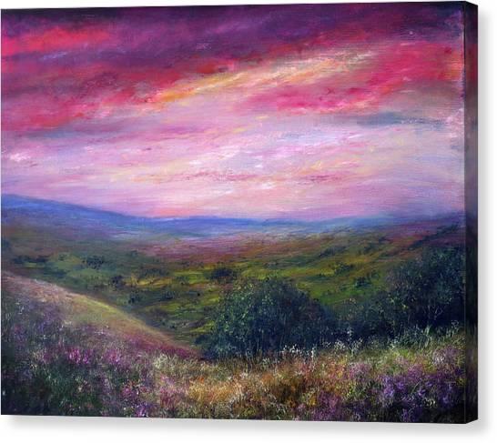 Derbyshire Skies Canvas Print by Ann Marie Bone