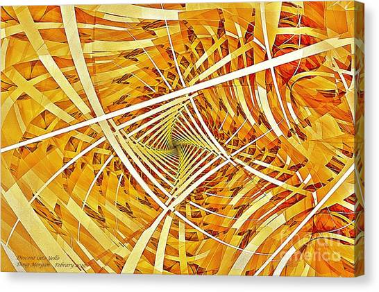 Descent Into Yello Canvas Print