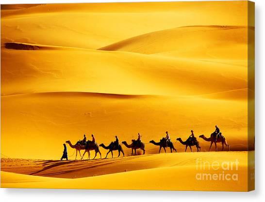 Caravan Canvas Print - Desert Caravan by Mikadun