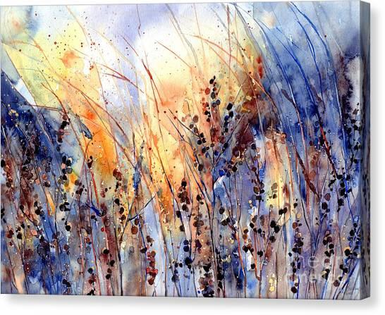 Gobi Canvas Print - Desert Flowers by Suzann Sines