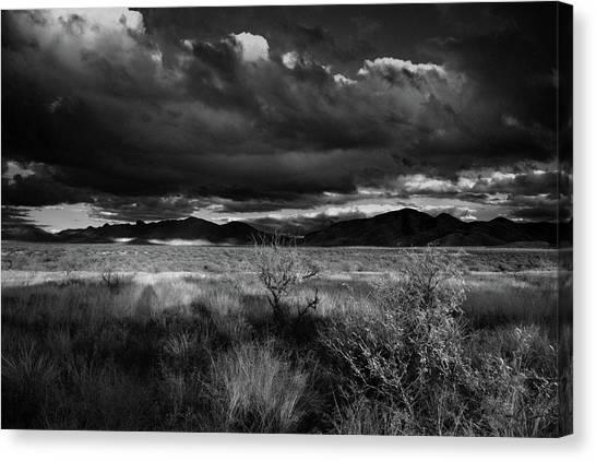 Desert Shadow Moods Canvas Print