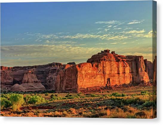 Desert Sunrise In Color Canvas Print