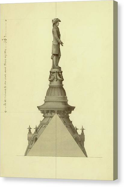 Design For City Hall Tower Canvas Print