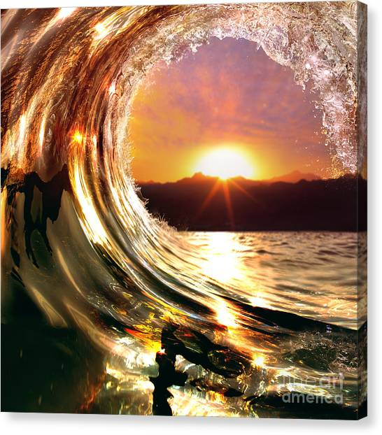 Tides Canvas Print - Design Template With Underwater Part by Willyam Bradberry