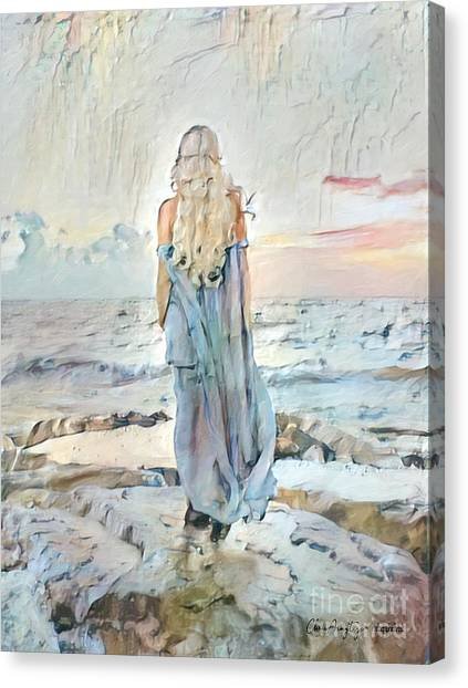Desolate Or Contemplative Canvas Print