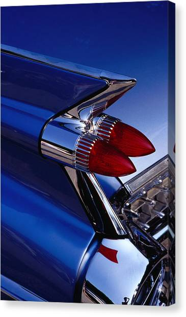 Detail Of An American Cadillac, Eze Canvas Print