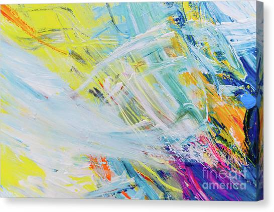 Detail Of Brush Strokes Of Random Colors To Use As Background An Canvas Print