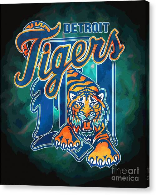 Ty Cobb Canvas Print - Detroit Tigers Baseball Poster, Mlb Team Logo Sports Art Posters, Major League Baseball Memorabilia  by Stefano Senise
