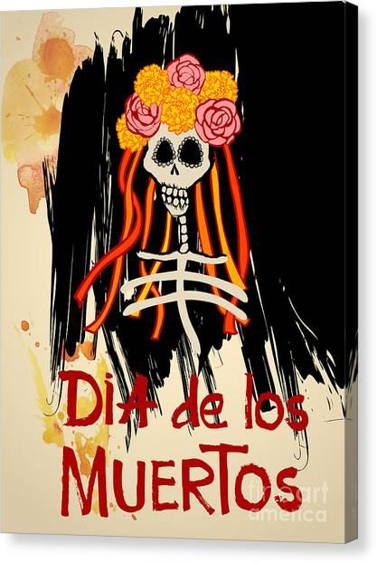 Mexico Canvas Print - Dia De Los Muertos Day Of The Dead by Ajgul