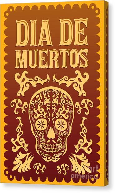Mexico Canvas Print - Dia De Muertos - Mexican Day Of The by Julio Aldana