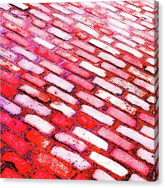 Diagonal Street Cobbles Canvas Print