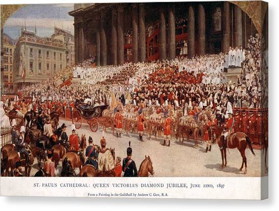 Diamond Jubilee Canvas Print by Hulton Archive
