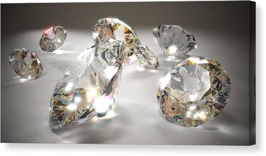 Diamonds Canvas Print by Mevans