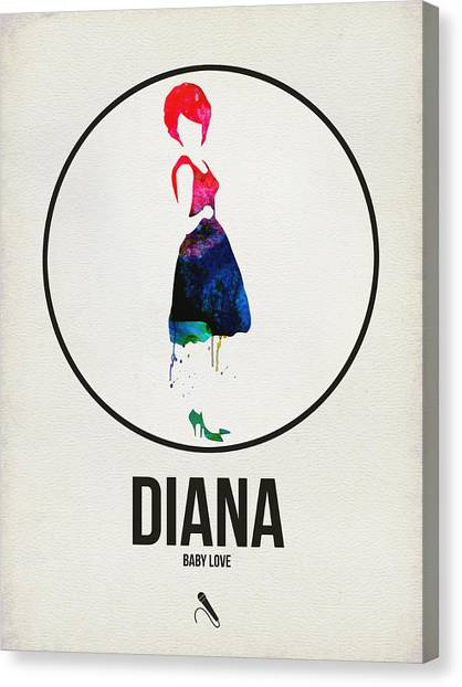 See Canvas Print - Diana Ross by Naxart Studio