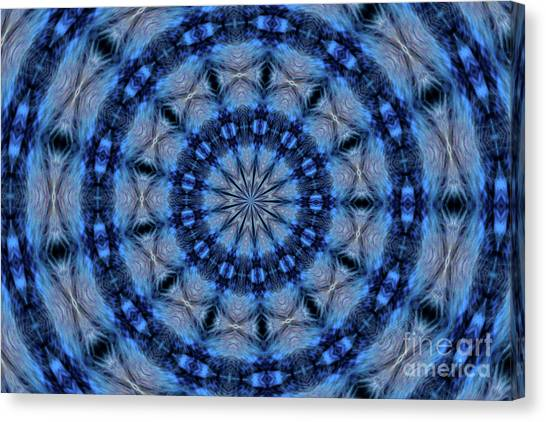 Blue Jay Mandala Canvas Print
