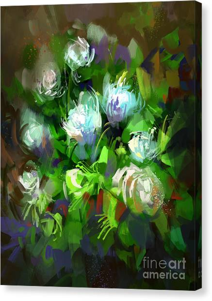 Presents Canvas Print - Digital Painting Showing Bunch Of White by Tithi Luadthong