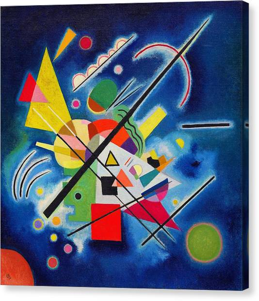 Russian Blue Canvas Print - Digital Remastered Edition - Blue Painting by Wassily Kandinsky