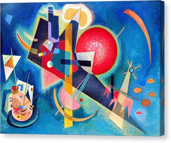 Russian Blue Canvas Print - Digital Remastered Edition - In The Blue by Wassily Kandinsky