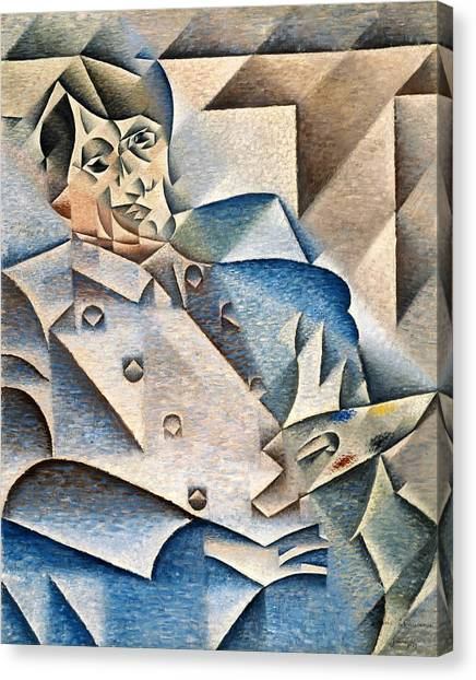 Pablo Picasso Canvas Print - Digital Remastered Edition - Portrait Of Pablo Picasso by Juan Gris