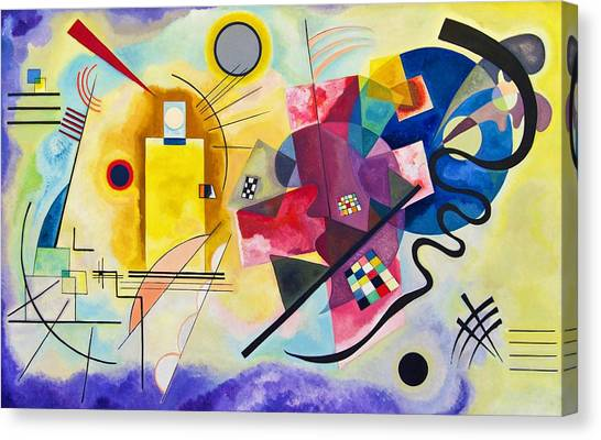 Russian Blue Canvas Print - Digital Remastered Edition - Yellow, Red, Blue by Wassily Kandinsky