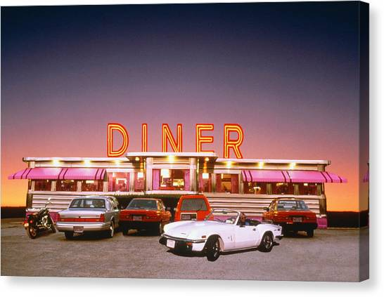 Diner At Twilight Canvas Print