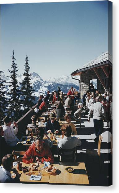 Dining In Gstaad Canvas Print
