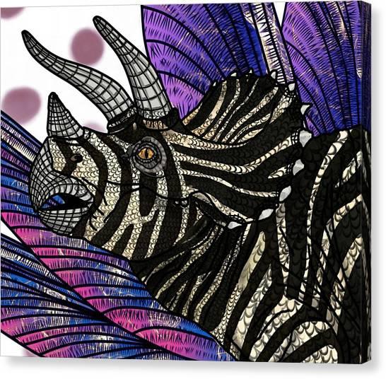 Dinosaur Triceratops Head Canvas Print