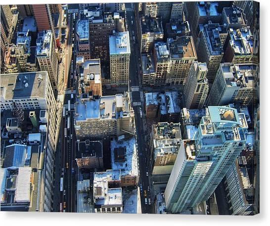 Directly Above Shot Of City Canvas Print by Gavin Pugh / Eyeem