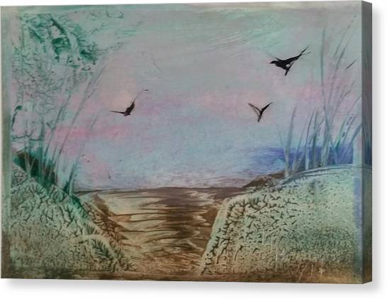 Dirt Road Through A Valley Canvas Print