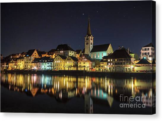 Dissenhofen On The Rhine River Canvas Print