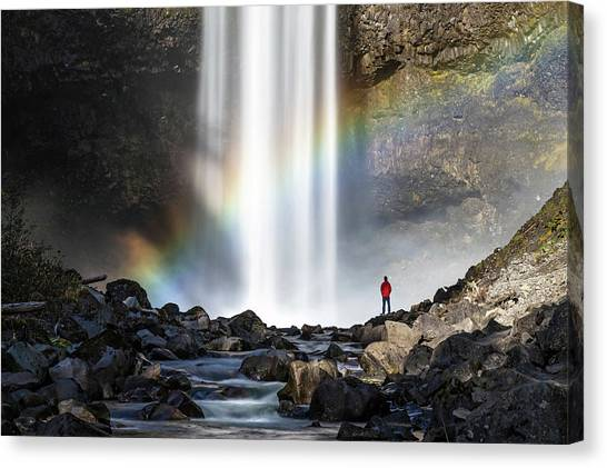 Canvas Print featuring the photograph Divine Hand Shadow At Brandywine Falls by Pierre Leclerc Photography