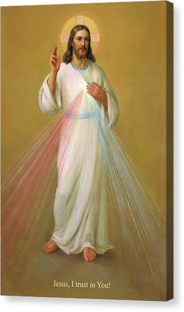 Messiah Canvas Print - Divine Mercy - Divina Misericordia by Svitozar Nenyuk