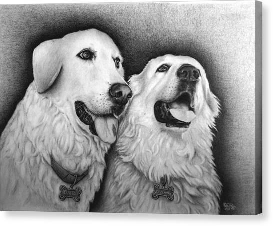 Dixie And Savannah Canvas Print