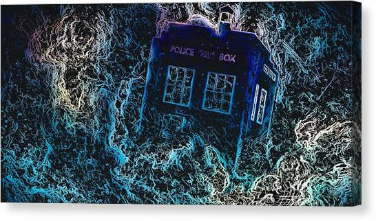 Doctor Who Tardis 3 Canvas Print
