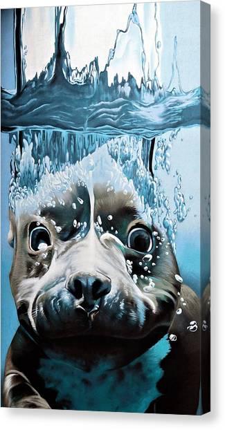 Beagles Canvas Print - Dog Diver by ArtMarketJapan