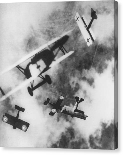 Dogfight Canvas Print by Hulton Archive