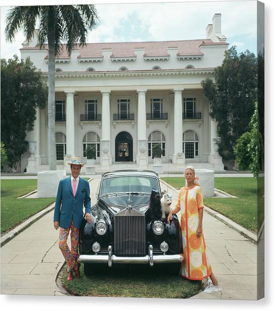 Donald Leas Canvas Print by Slim Aarons