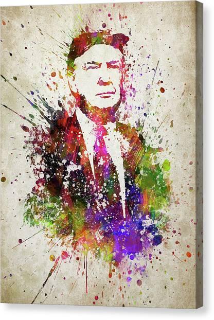 Republican Politicians Canvas Print - Donald Trump In Color by Aged Pixel